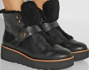 Coach Urban Hiker Leather and Shearling Boots